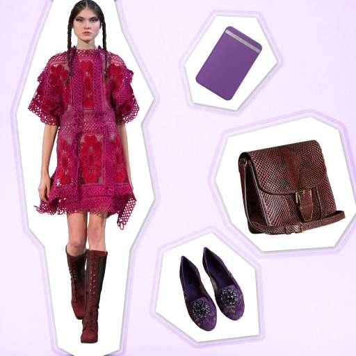 Dress: Bora Aksu, Shoes: Dolce & Gabanna, Bag: Burberry