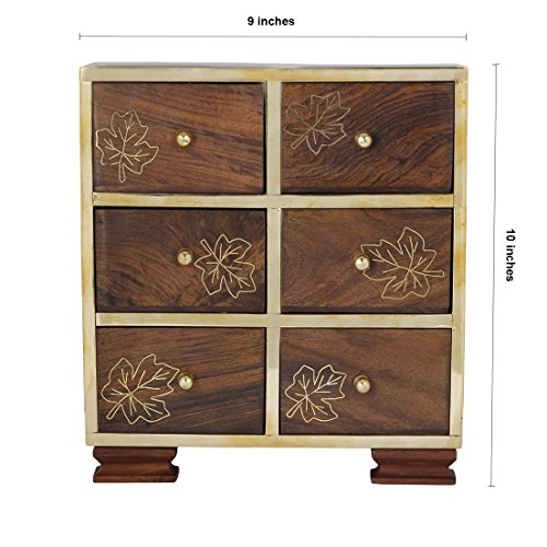 Small Decorative 6 Drawers Chest Shape Wall Standing
