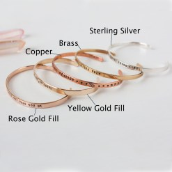 Customize your own skinny cuff in sterling silver, copper, brass, gold or rose gold