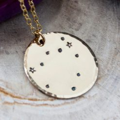 Capricorn Constellation Necklace in Gold