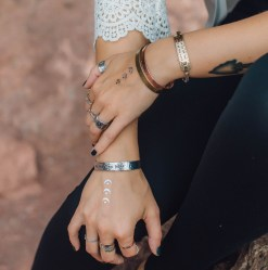 No Mud No Lotus aluminum cuff bracelet