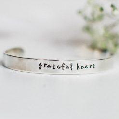 Grateful heart inspirational bracelet