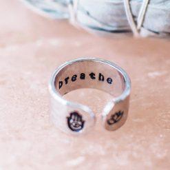 Breathe Inspirational ring