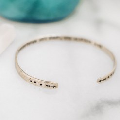 Everything you want you already are Inspirational brass bracelet