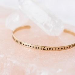 Breathe brass bracelet