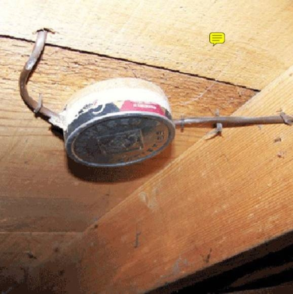 You know you're a redneck HVAC tech when you use a chew can for a junction box.