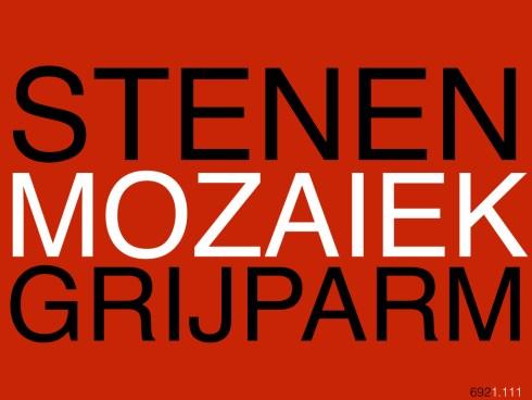 STENENMOZAIEKGRIJPARM692.001