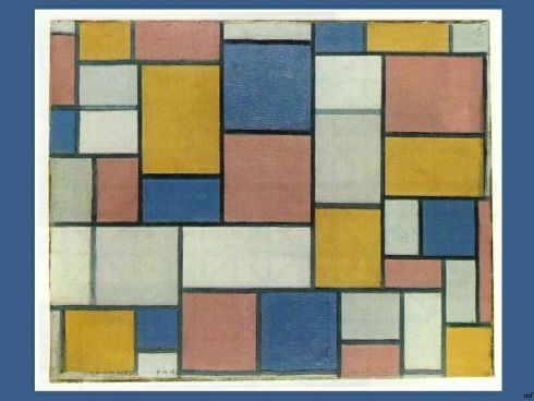 Art - Piet Mondriaan - Composition with Color Planes and Gray Lines 1918