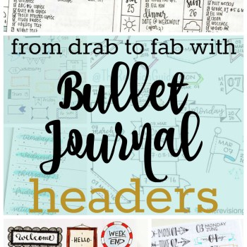 Transform your planner or journal with these fabulous bullet journal headers | Zen of Planning | Planner Peace and Inspiration