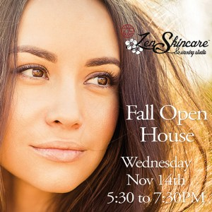 Fall Open House at Zen Skincare in Asheville, NC with live Chemical Peel demo, product discounts, and chance to win a Free Facial!