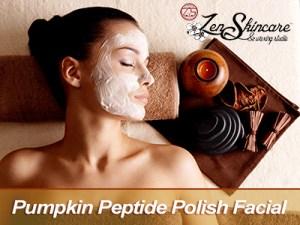 Pumpkin Peptide Polish Facial Zen Skincare Waxing Studio Asheville NC