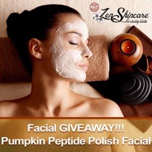 9th Anniversary Giveaway Pumpkin Peptide Polish Facial Zen Skincare Waxing Studio Asheville NC