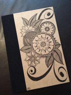 Notebook with Zendala flowers