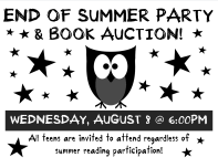 Teen SRP 2012 End of Summer Party & Book Auction