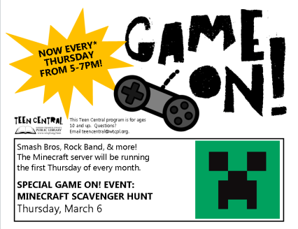 Game On! Weekly Event