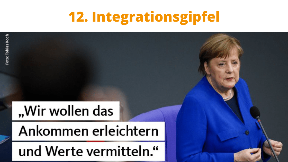12. Integrationsgipfel, Angela Merkel, copyright Tobias Koch