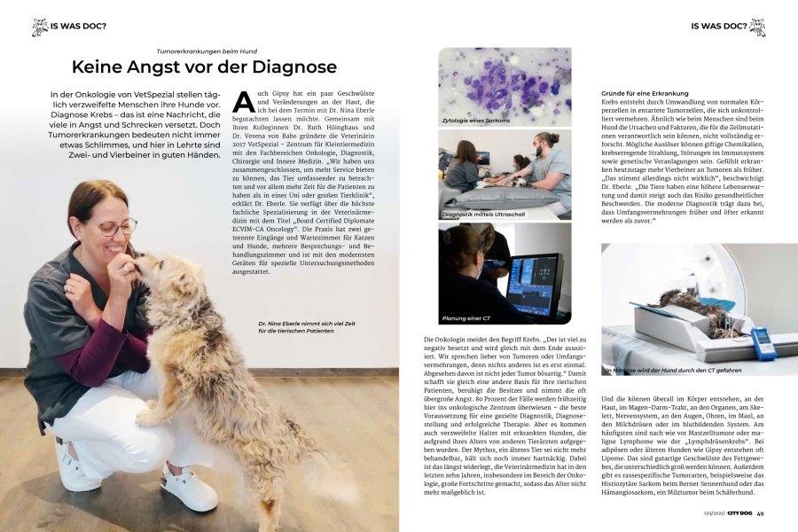 Ausgabe City Dog 07/082021 – Tumorerkrankungen beim Hund Seite 1