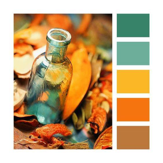 Photo avec une palette de couleur automnale