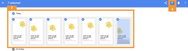 Selectionner des images dans Google Photos