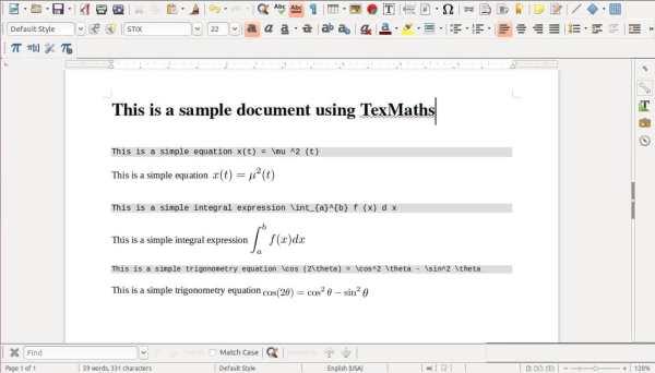TexMaths / Небольшой плагин добавляющий поддержку LaTeX в ...