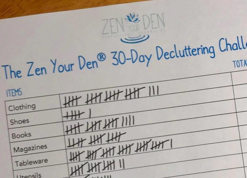 The Zen Your Den 30-Day Decluttering Challenge