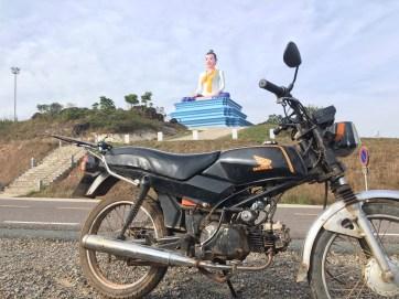 Giant Buddha on top of Bokor
