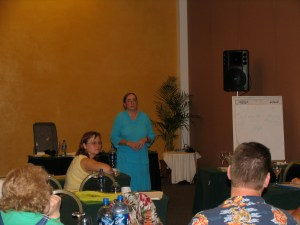 Faye Zepeda facilitating a training in Mexico