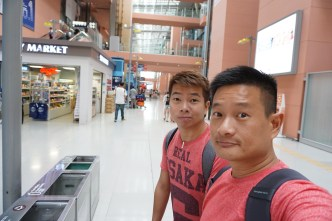 My friend and I were greeted to a quiet Kansai Airport