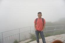 Me at the viewpoint at Rokko-Shidare Observatory