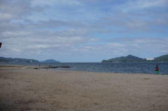 Beach facing Ine Bay on the sandbar
