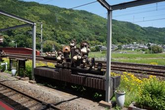 Ornaments by the Sagano train track
