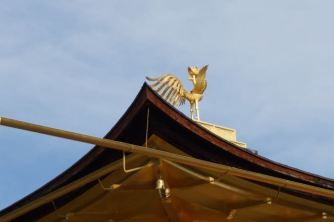 The phoenix on top of Kinkaku