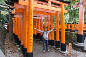 Me at the torii gates of Fushimi Inari-Taishi