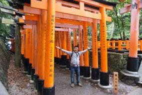 Me at the torii gates of Fushimi Inari-Taishi
