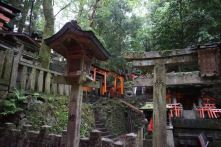 There are shrines like these along the way to the top of Mt Inari