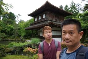 My friend and I at Ginkaku