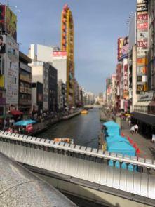 Crossing the bridge to Shinsaibashi