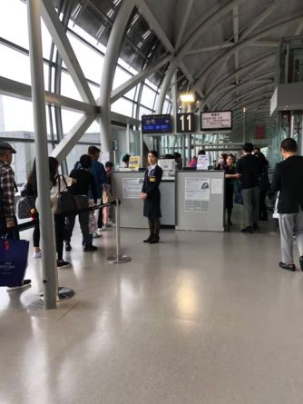 There is a separate boarding line for premium class passengers