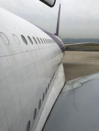 Thai Airways A380 unclose