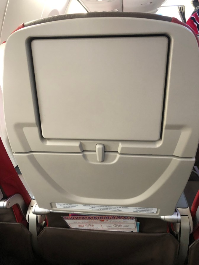 Tray table and a panel that was meant for the IFE