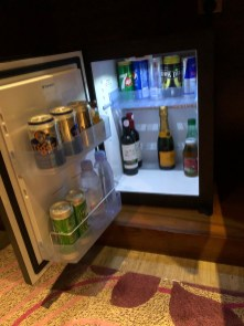 Fridge in the bottom cabinet