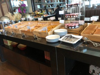 Pastry selection during breakfast