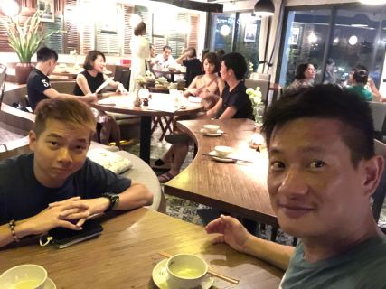 Wefie at Cau Go Restaurant in Hanoi