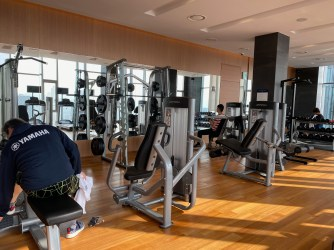 The gym is well equip for guests to get a good workout