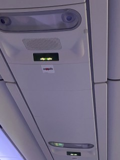 Another reading light above the seat