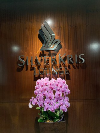 The entrance to SilverKris Lounge