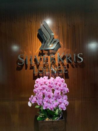 The entrance to SilverKris Lounge