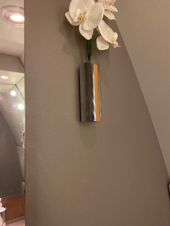 Flower that gives the lavatory a more premium look