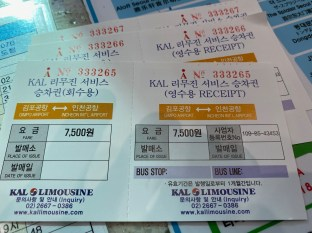 Got our bus tickets in time for 10.55am bus
