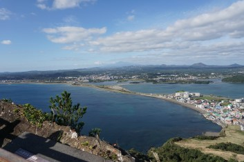 Taking one last look at Jeju from the peak of Seongsan Ilchulbong